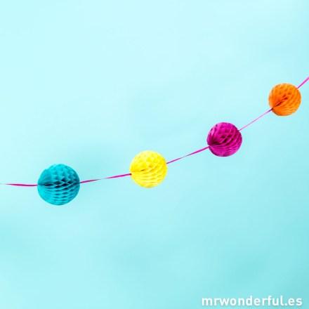Mr.Wonderful guirnalda de globos de papel de colores