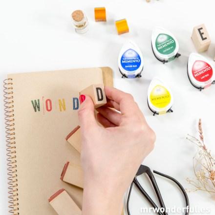 Mr.Wonderful set de 4 mini tintas de colores