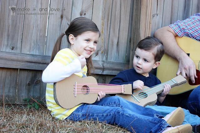 Tus peques se van a convertir en estrellas de la música con esta guitarra diy