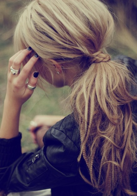 Twisted-Hair-with-Messy-Ponytail-small-cute-braid-love-it-so-much