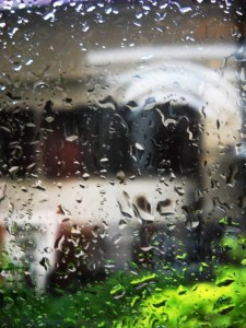 rain on a window