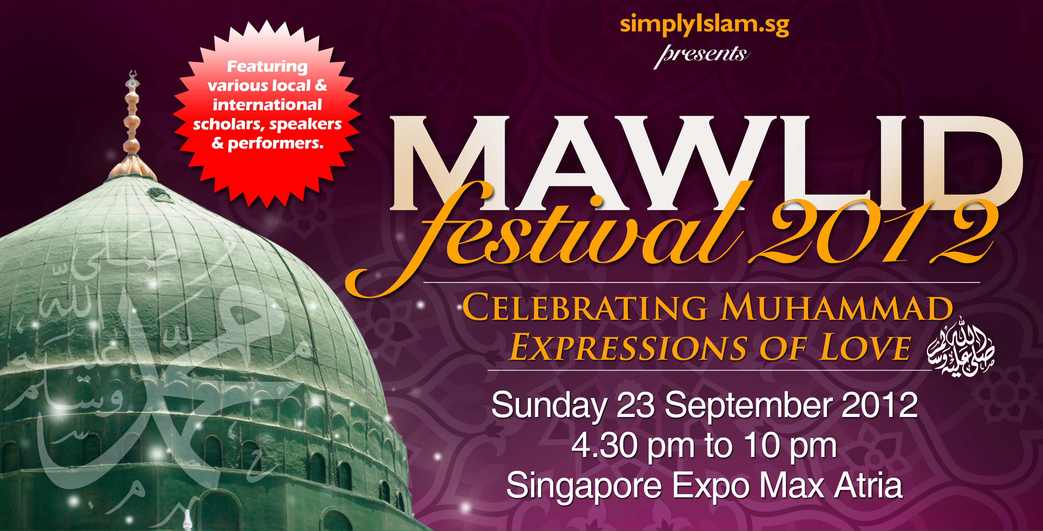 Event review: Mawlid Festival 2012 (4 – 7 pm)