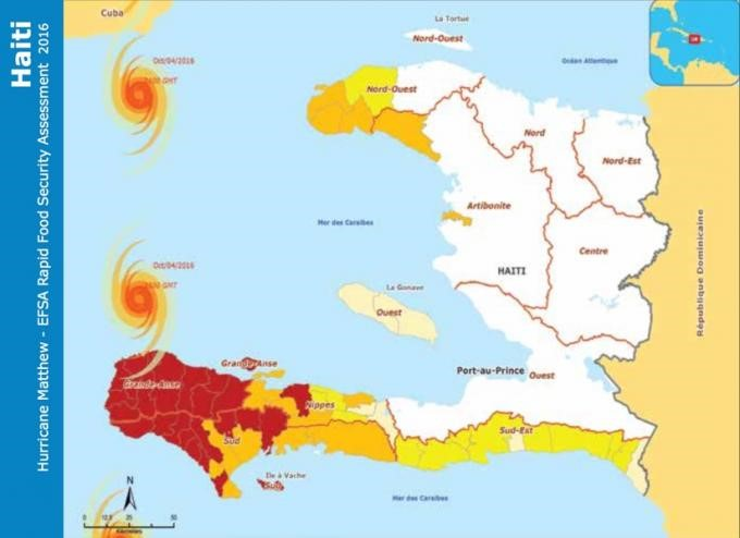 After The Storm Using Big Data To Track Displacement In Haiti - Haiti regions map