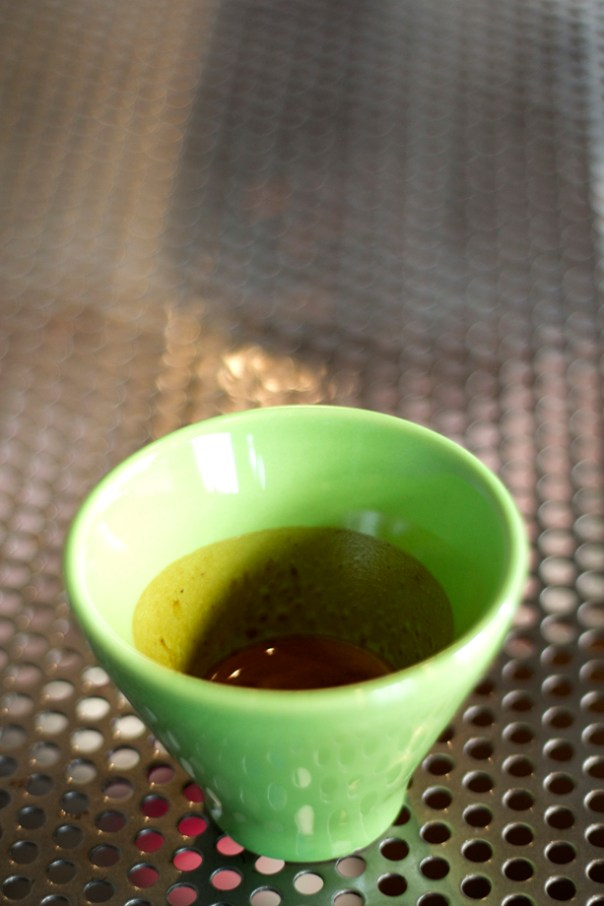 An espresso cup like a nuovo point
