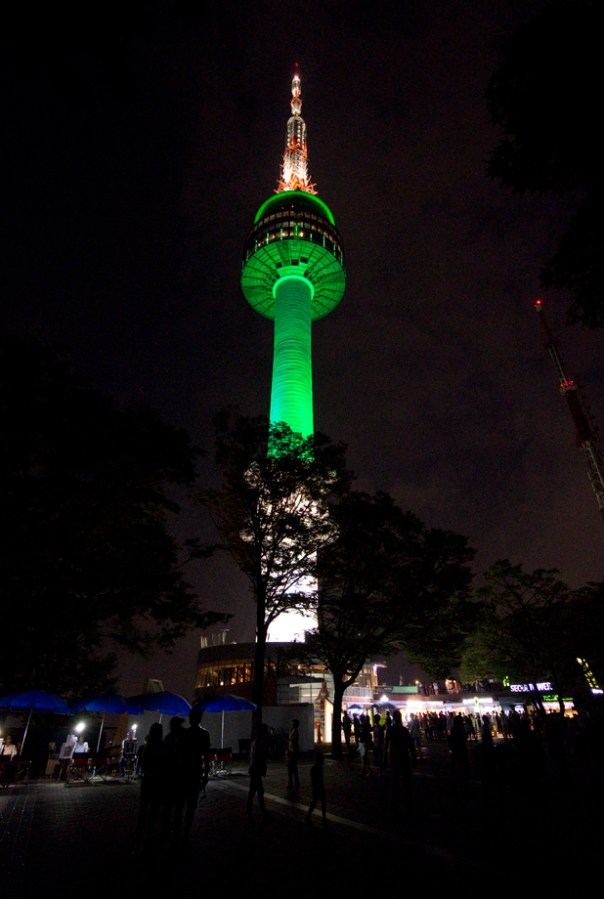 The Namsan Tower, thankfully you're not allowed to put locks on it.