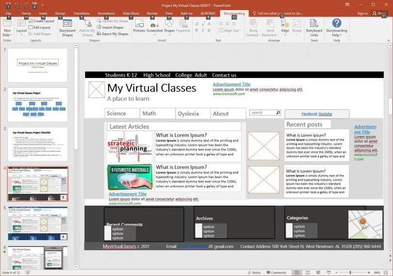 Designing and Producing What is a Website Storyboard? - My Virtual