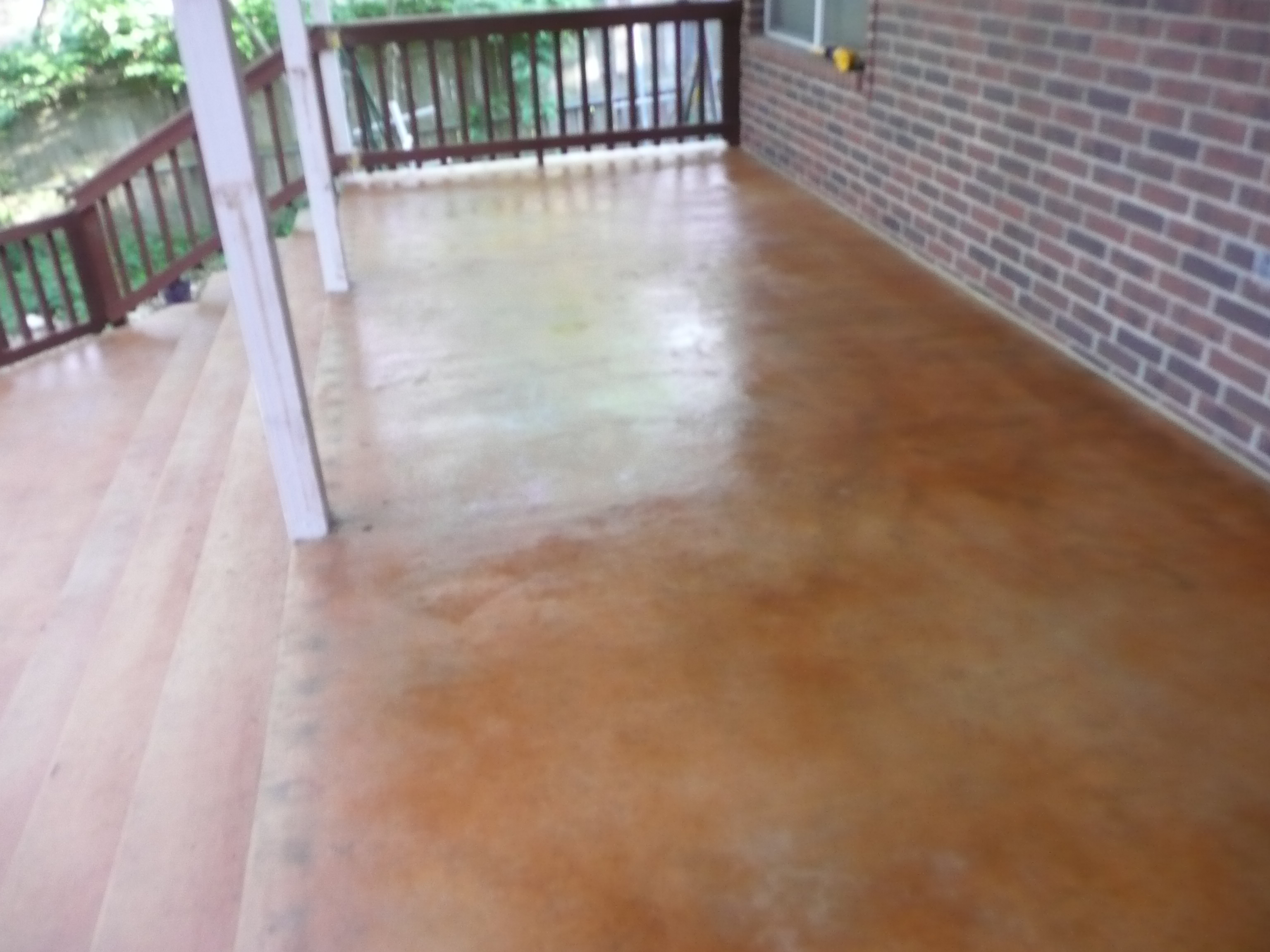 Concrete Patio Stained Mvl Concretes39 Blog