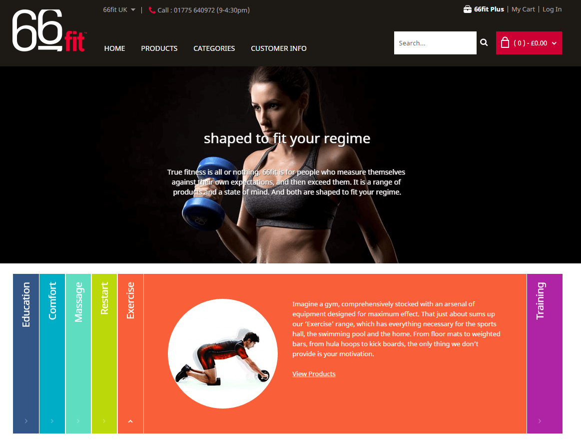 66fit com voucher codes homepage image