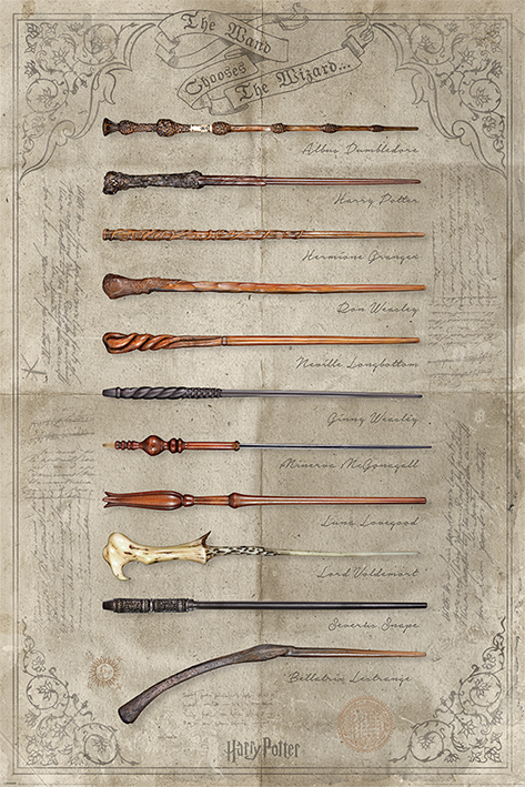 Wand Poster Harry Potter - Movie Poster / Print (the Wand Chooses The