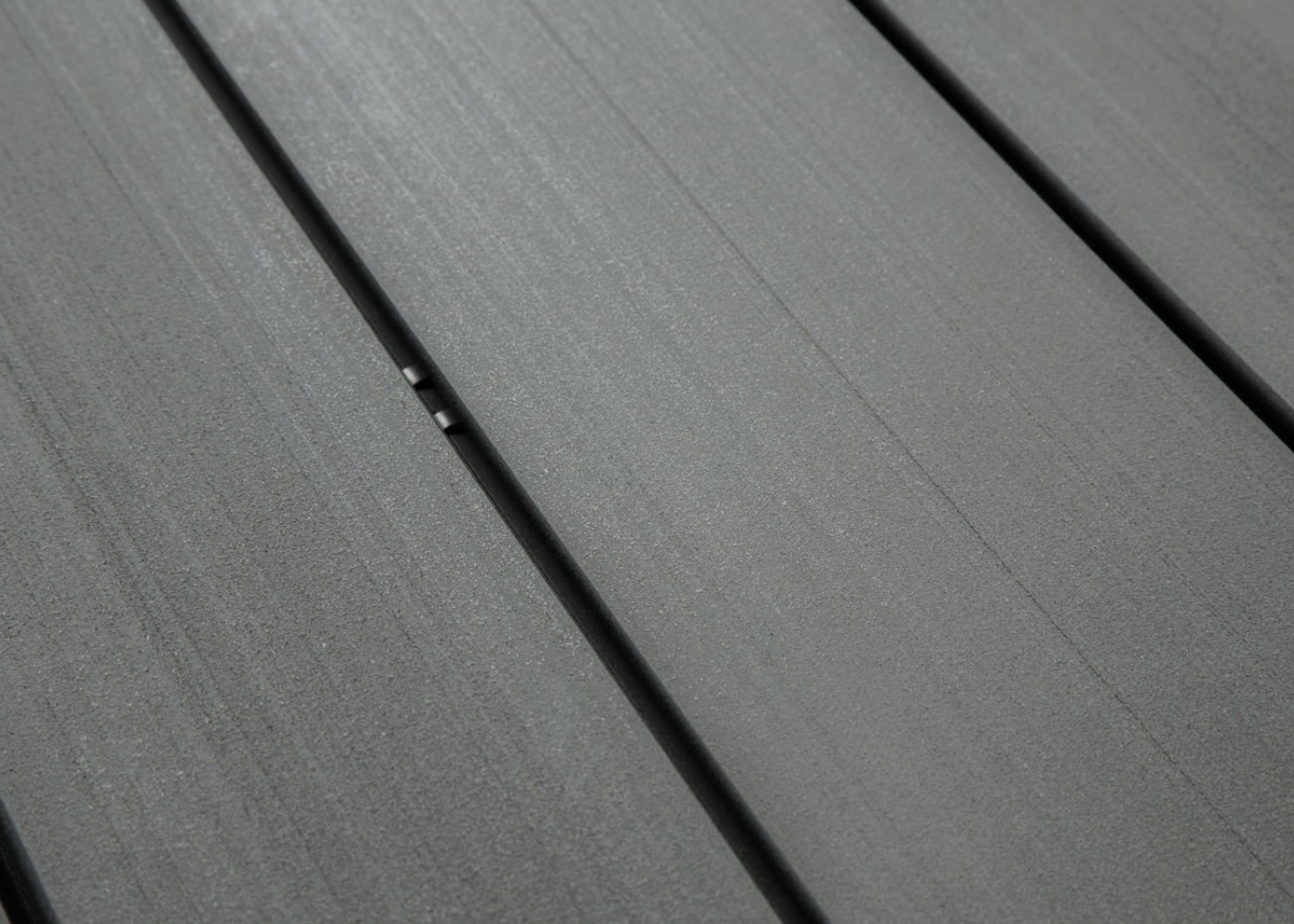 Lame Terrasse Lisse Bois Composite Teinte Gris Anthracite Lisse Fixation