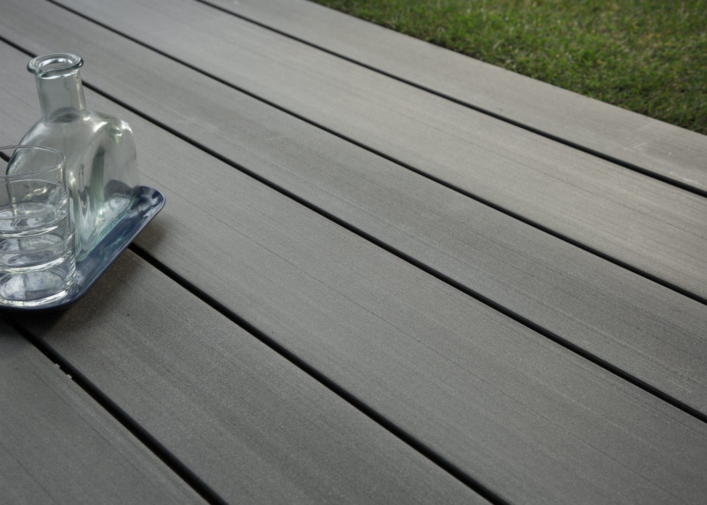 Lame Terrasse Composite Gris Anthracite Lame De Terrasse En Bois Composite, Teinte Gris Anthracite