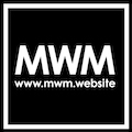 MW marketing Logo White Outline on Black
