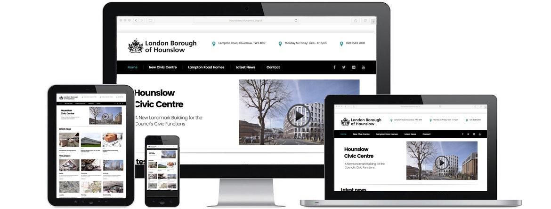 Hounslow Civic Centre Website Portfolio
