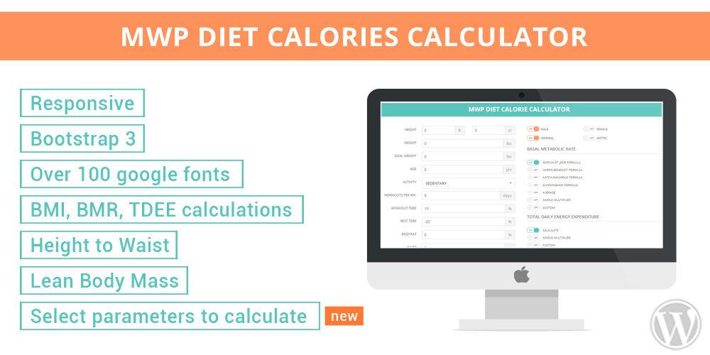 MWP Diet Calories Calculator - MWP Development - calorie and fat calculator