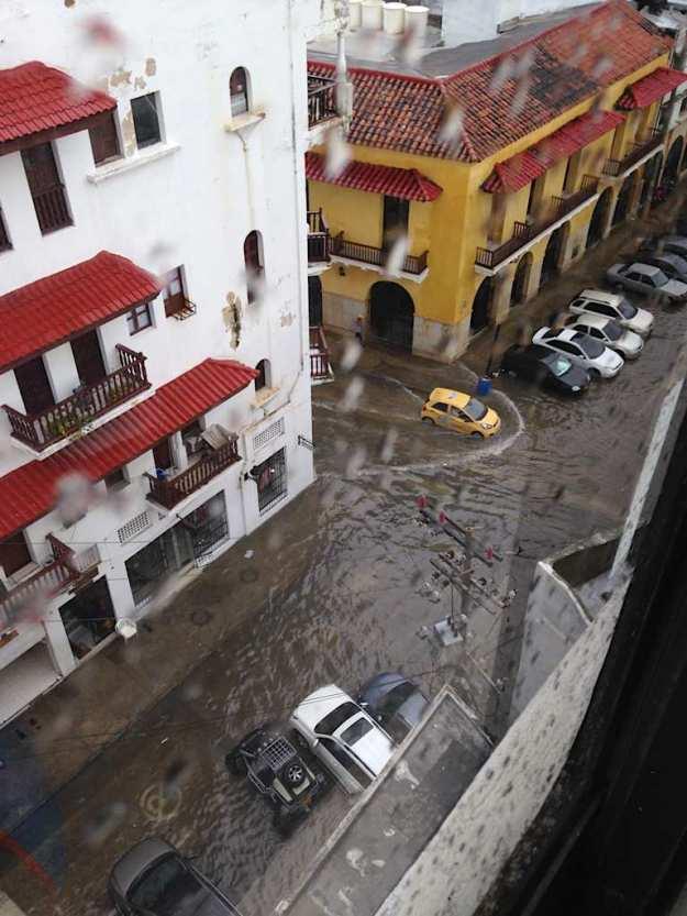 Starkregen in Cartagena