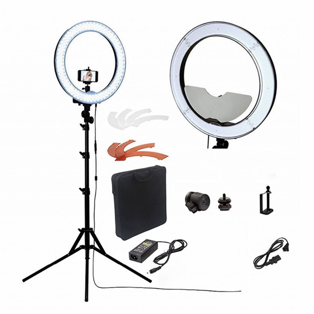 Vlog Verlichting Vstudio Complete Camera Foto Video Led Verlichting Set O A Voor Vlogging Youtube Selfie S En Video Opnamen Selfie Light Ring Lamp Telefoon