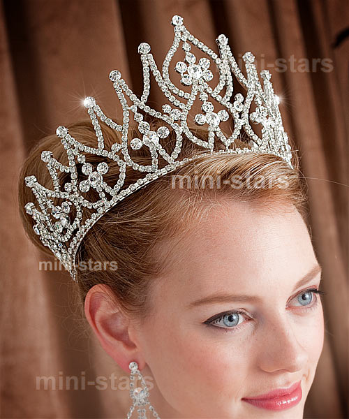 Diadem Hochzeit Günstig Bridal Large Pageant Tall Tiara Crown Use Austrian Crystal