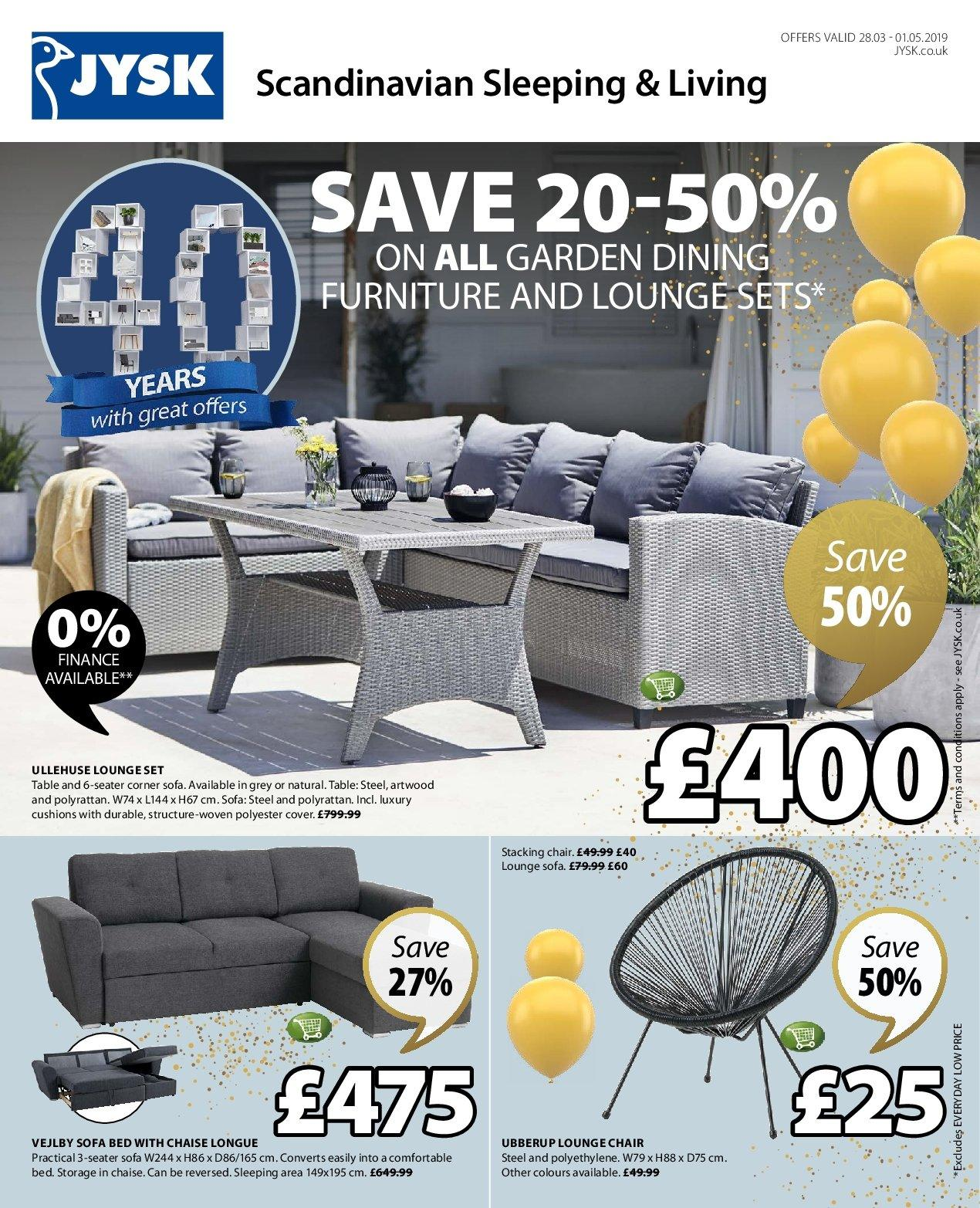 Sofa Uk Finance Current Jysk Leaflet Offer 28 3 2019 1 5 2019 My Leaflet Co Uk
