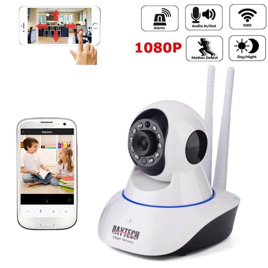 Camera Exterieur New Deal Daytech Ip Camera 1080p Hd Wireless Camera Indoor Wifi Cctv Two Way Audio Ir Cut Night Vision Yoosee Phone Control Dt C101a 1080p