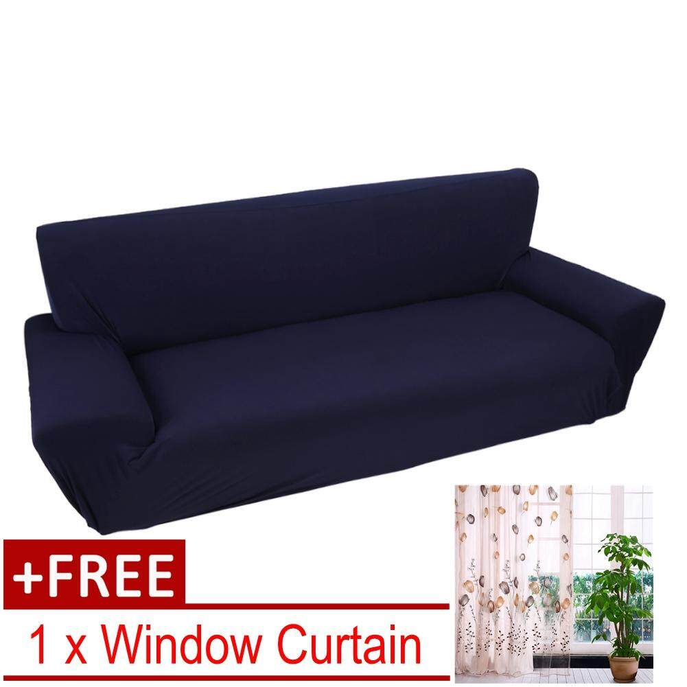 Macam Sofa Eleget One Free Curtainstretch Sofa Slipcovers For 3 Seater Blue Intl Blue