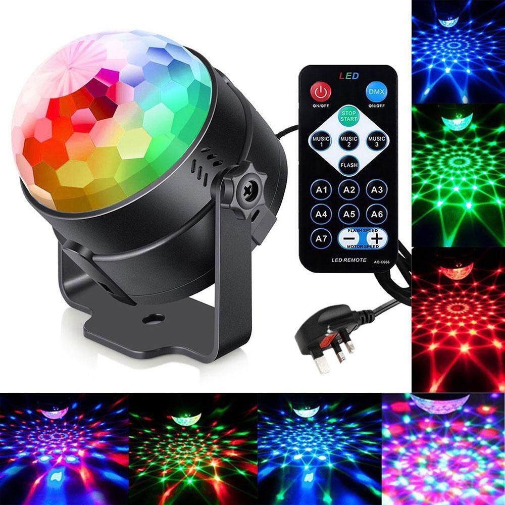 Led Disco Beleuchtung Niceeshop Uk Plug Disco Ball Sound Activated With Remote 7 Colors Party Lights Multi Color Disco Light Rotating Crystal Magic Ball Projector Led Dj