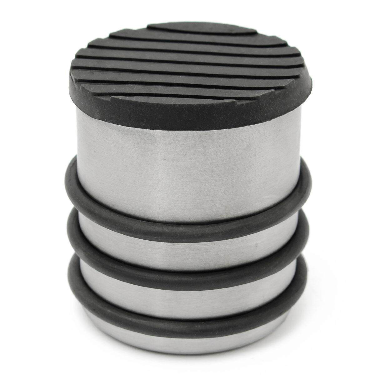 Heavy Weight Door Stop Round Heavy Duty Floor Metal Stainless Steel Door Stop Stopper Protector Rubber