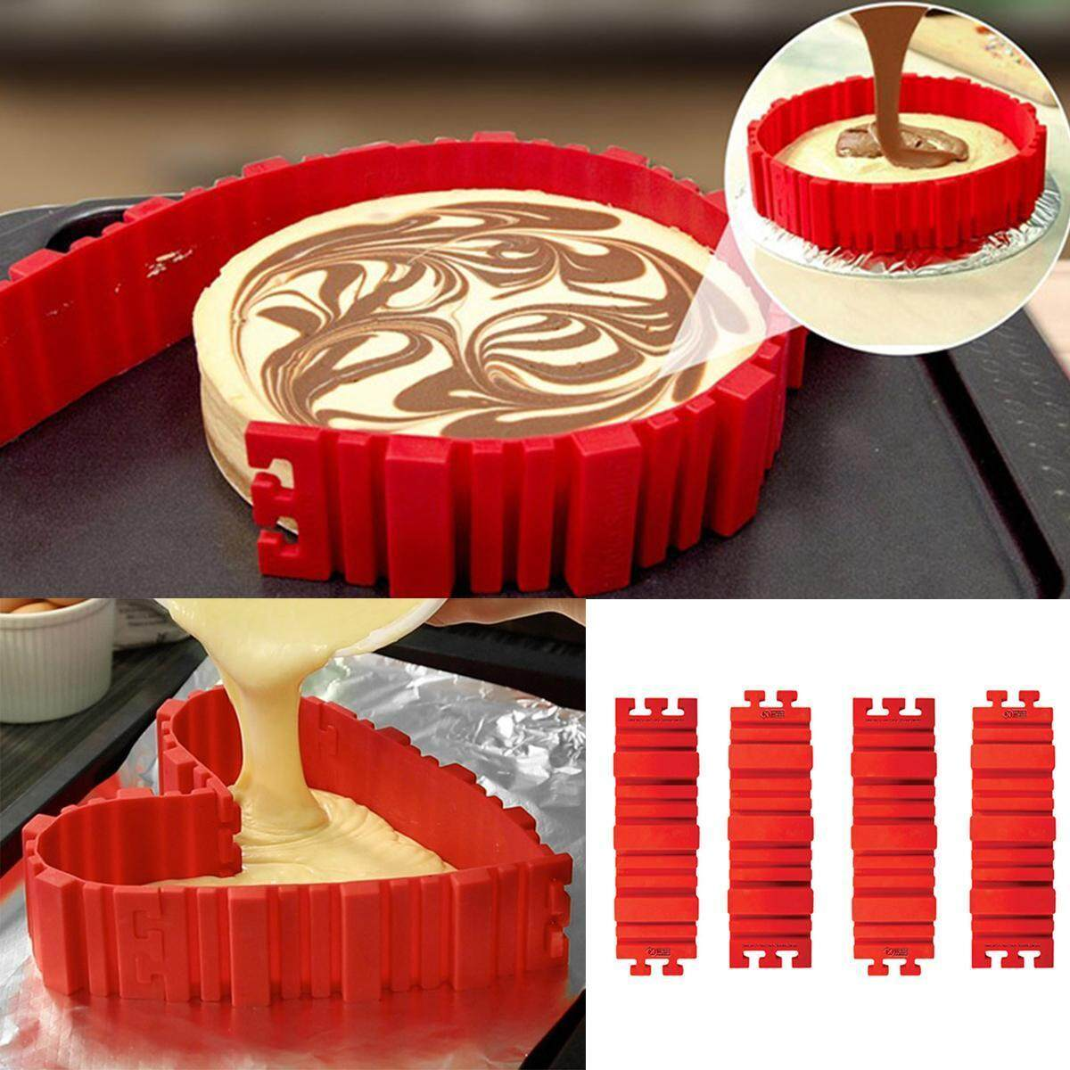 Kuchen Form 4pcs Nonstick Silikon Kuchen Magic Bake Snakes Diy Kuchen Form Backen Tools Tray