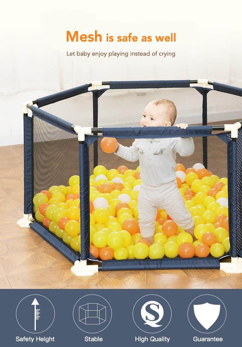 Baby Playpen Height Realeos Hexagon Play Fence Safety Yard Kids Baby Playpen Ra24