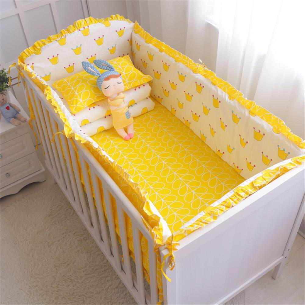 Baby Cradle Sheets Baby Bedding Set Crib Toddler Baby Bed Cotton Linens Include Baby Cot Bumpers Sheets 5pcs