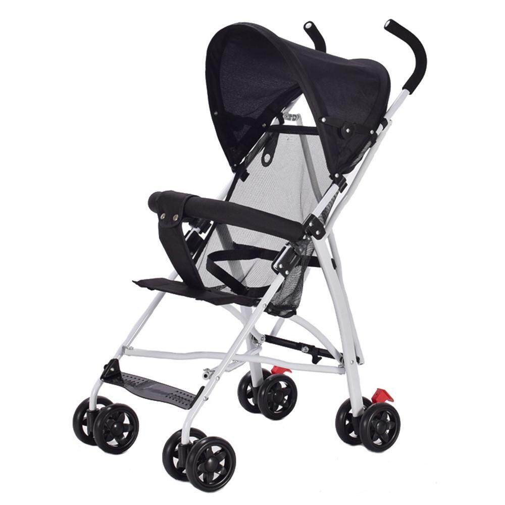 Lightweight Folding Pram Lightsmile Lightweight Portable Easy Baby Stroller For Newborn Pushchairs Folding Pram Folding Gauze Sitting Baby Umbrella Pushchair