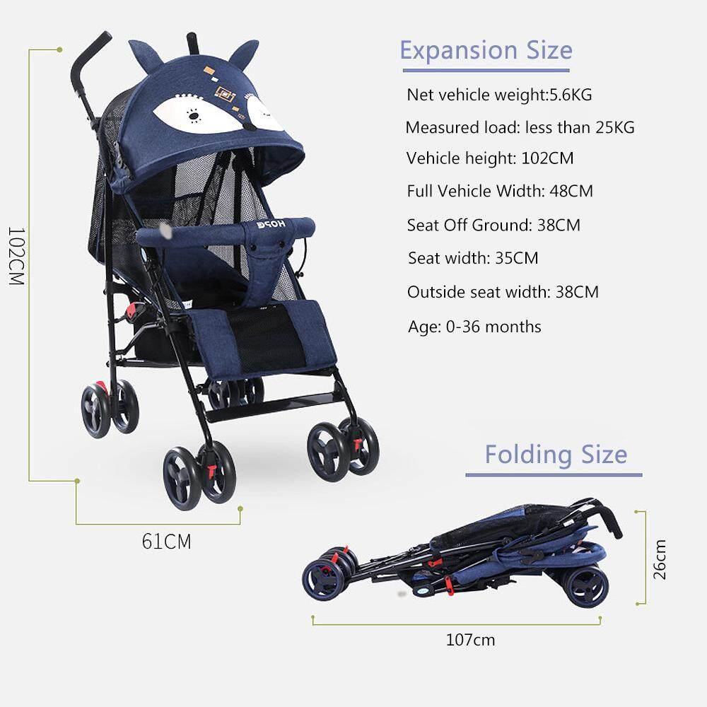 Lightweight Folding Pram Efuture Trolley Baby Stroller Lightweight Folding Stroller Reclining Can Sit Shock Absorber Ultra Light Portable Children S Trolley