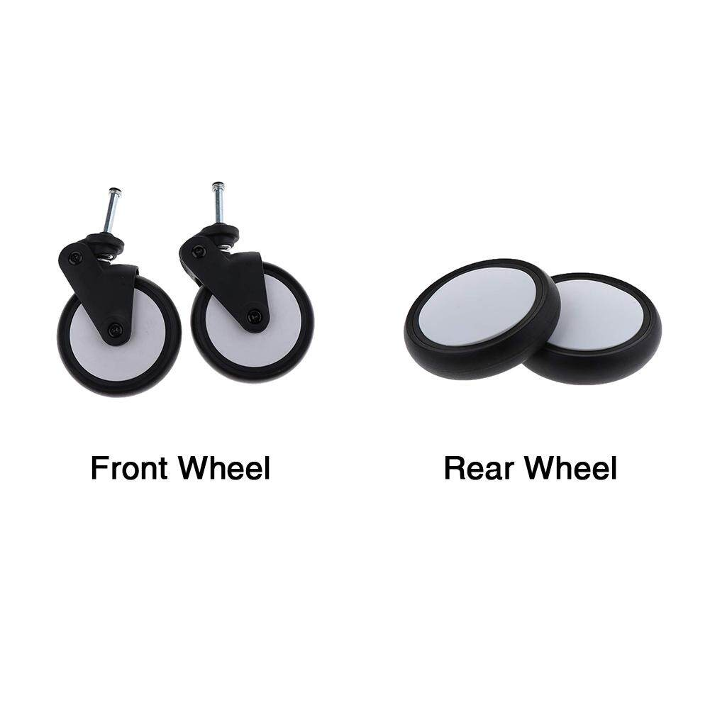 Egg Pram Replacement Wheels 1 Pair Stroller Wheel Rotatable Pram Accessories Rubber Flexible Replacement 360 Degree Durable Back Front And Rear Baby Part Pushchair For Yoyo