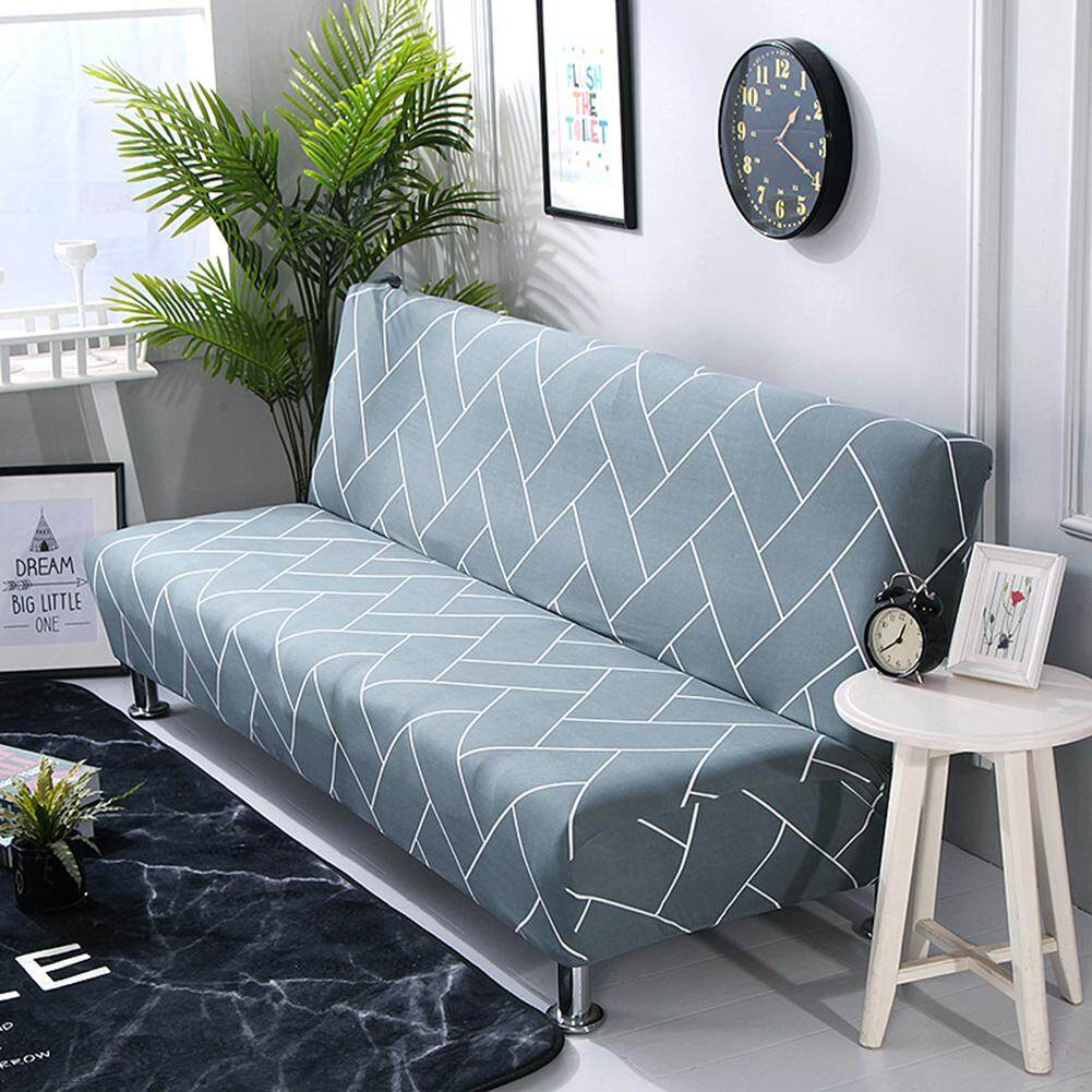 Couch Cover Sofa No Armrest Stretch Sofa Cover Slipcover All Covered Folding Sofa Bed Cover Bed Fitted Sheet Universal Cover Sofa Towel