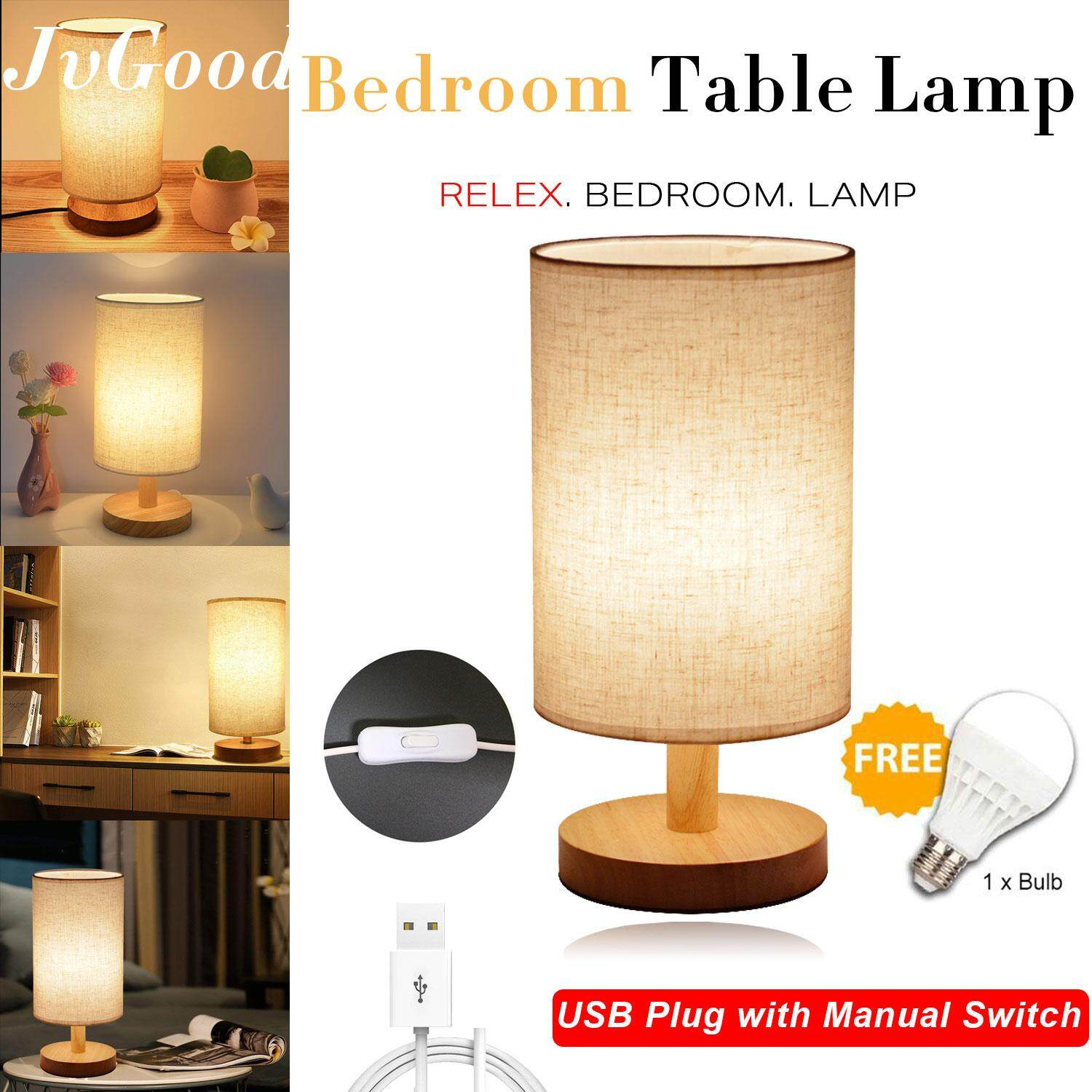Harga Lampu Meja Hias Jvgood Lampu Meja Table Lamp Best Seller Soft Night Light Side Table Lamp With 1 8m Usb Line And Free 5v Bulb