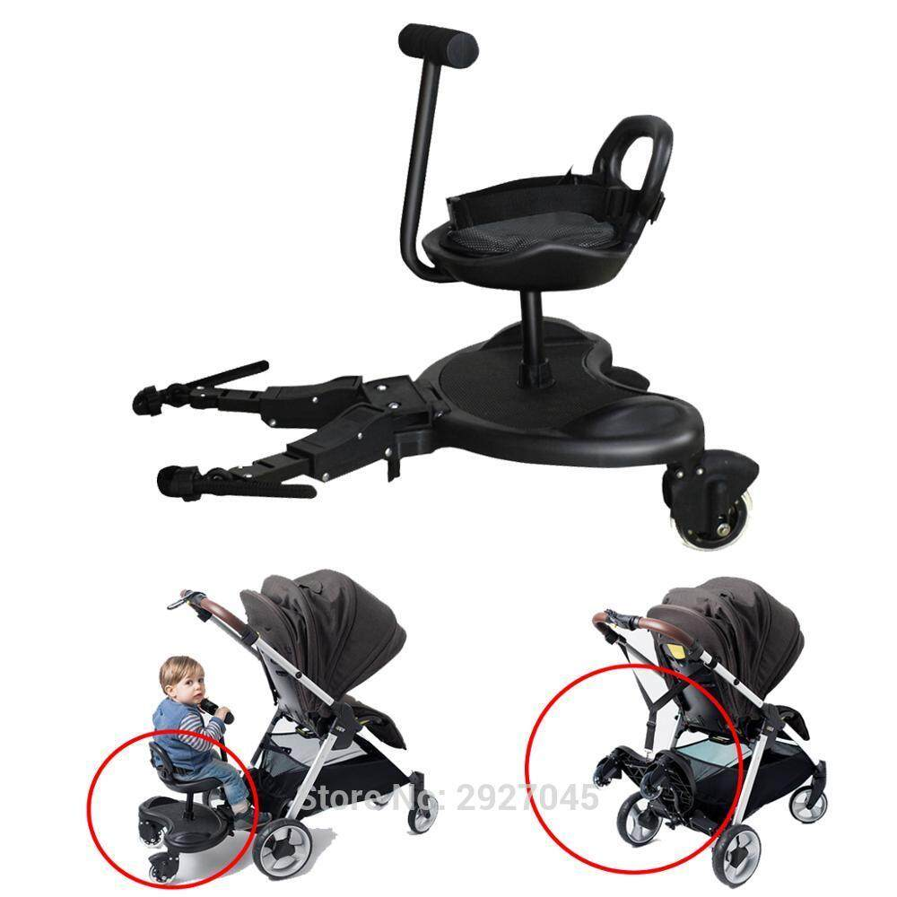 Carriage Type Strollers Universal Baby Stroller Accessories 2 In 1 Cozy Rider Buggy Board Easy Rider Plus Trailer Sibling Board For Baby Pram Carriage Intl Singapore
