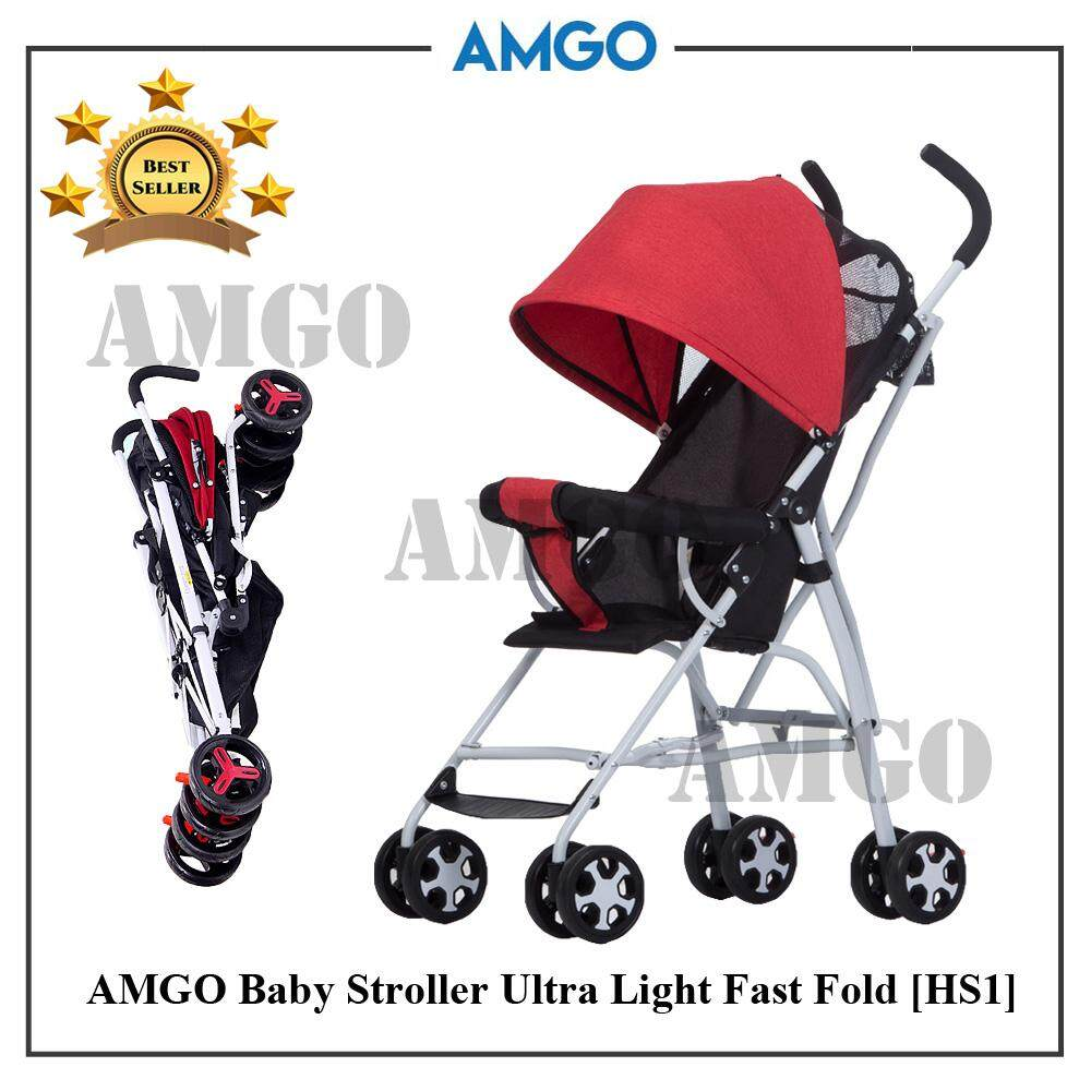 Lightweight Folding Pram Amgo Easy Fold Lightweight Baby Stroller With Brake System