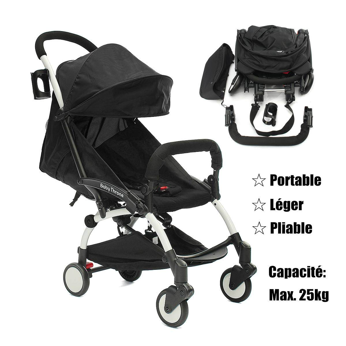 Lightweight Folding Pram Portable Baby Stroller Folding Lightweight Toddler Travel Buggy Infant Carriage Intl Singapore