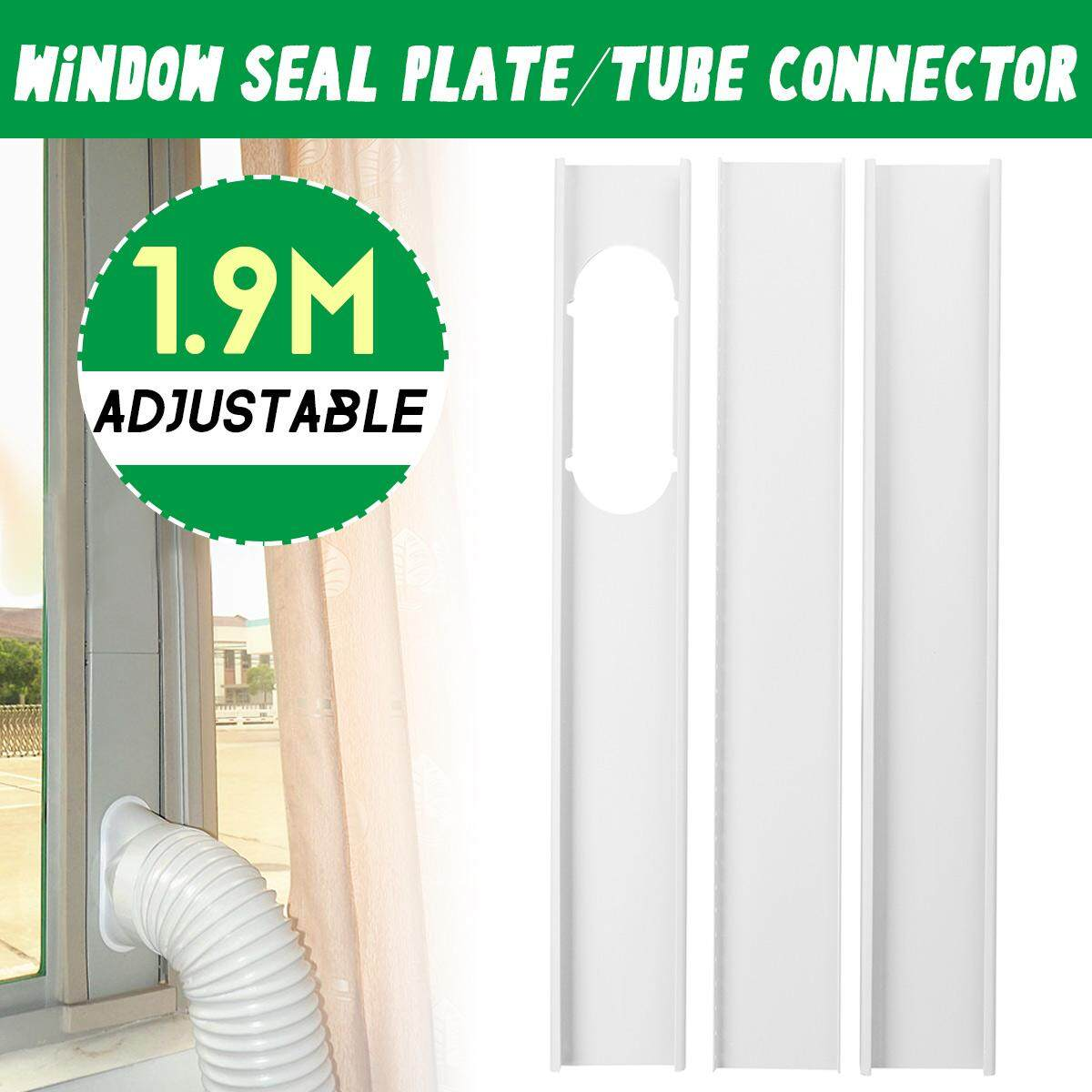 Plastic Door Curtains For Air Conditioner 3x 1 9m Window Plate Exhaust Hose Tube Connector Fit Portable Air Conditioner