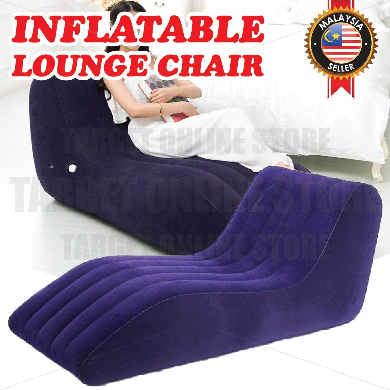 Sofa Bed Giant Malaysia Inflatable Lounge Chair Cushion Air Blow Up Comfortable Relaxs Flocked