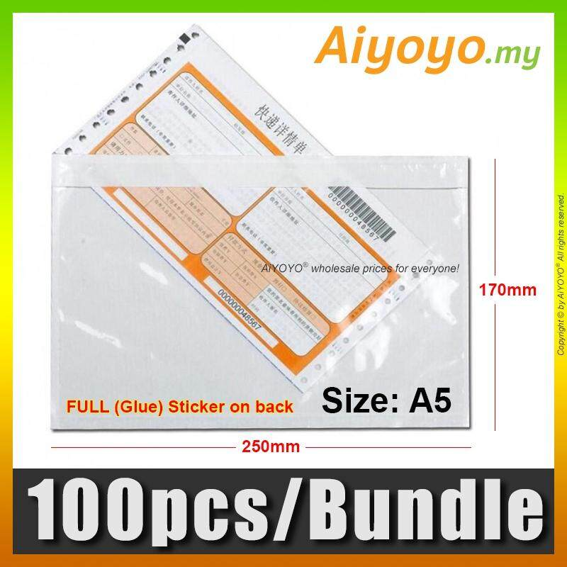 100pcs/Bundle Consignment Note Pocket A5 Pouch Document Whole Full