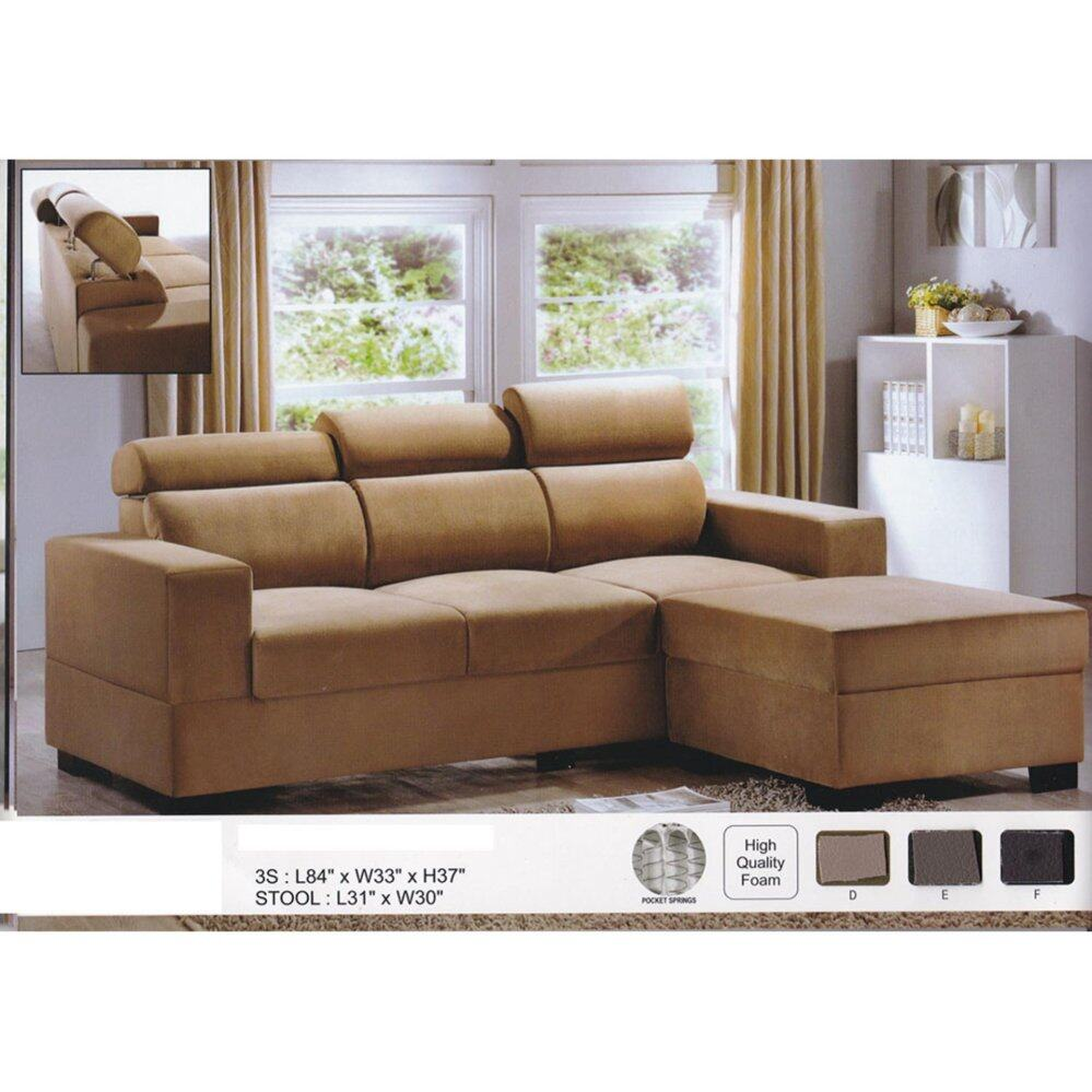 Sofa L 2 X 2 L Shape Fully Leather Sofa Brown Color L2135mm X W838mm X H940mm