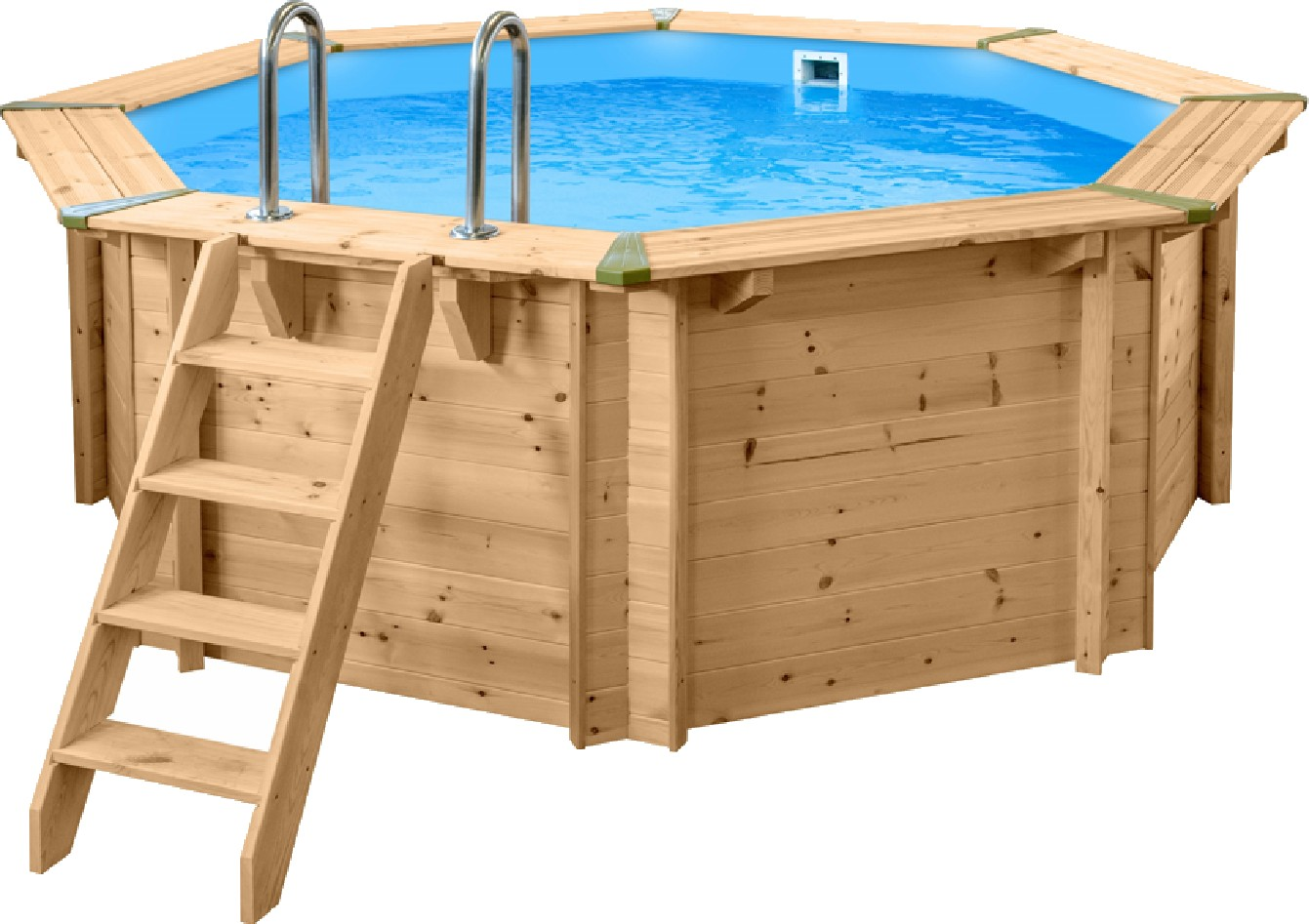 Pool Rund Steinoptik Holzpool Set Evolution Rund 440 X 116 Cm