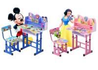 Cartoon Kids Study Table & Chair Set (Pink with Princess ...
