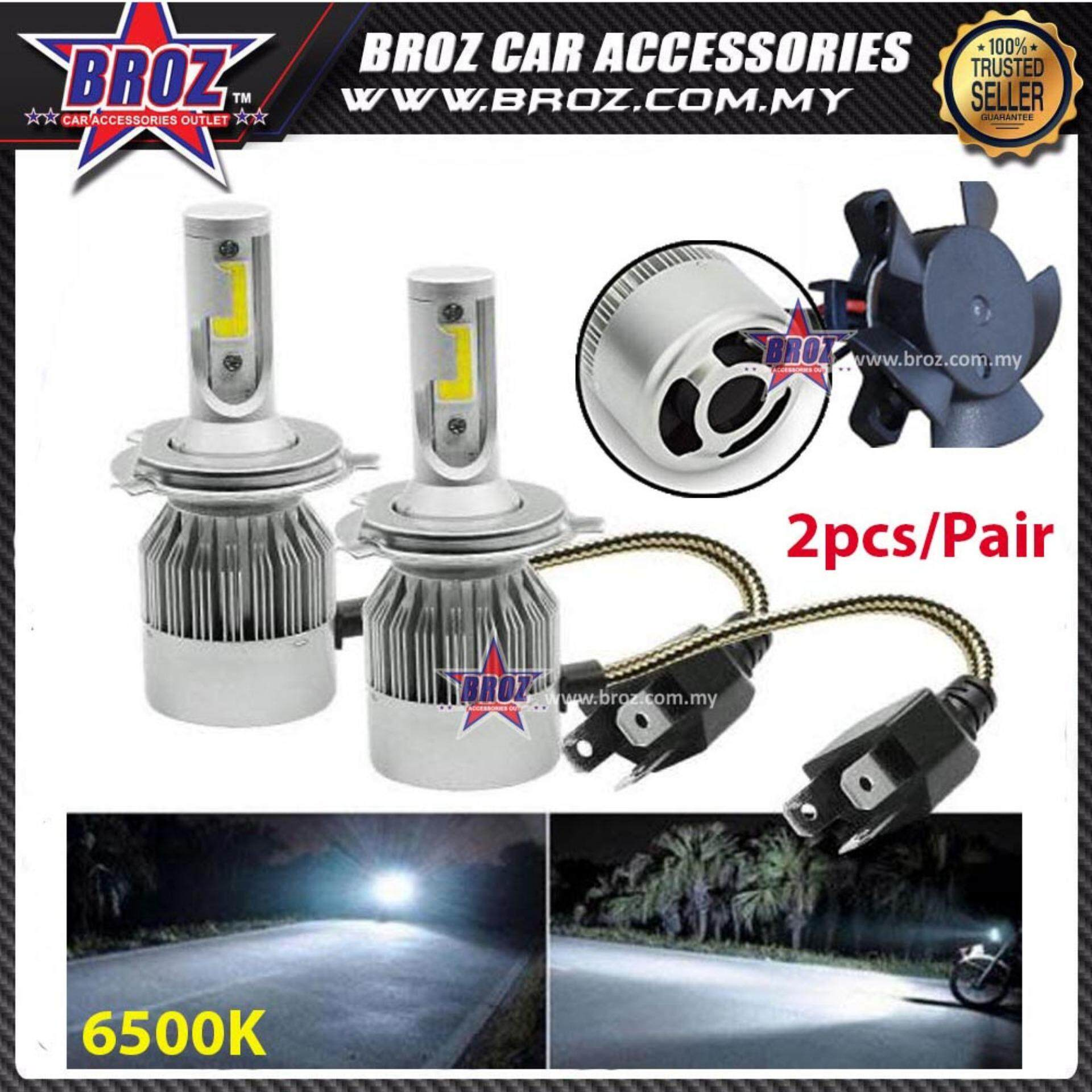 Harga Lampu Headlamp Wira Proton Wira Head Lamp C6 Led Light Car Headlight Auto Head Light Lamp 6500k White Light Free Osram T10 Led