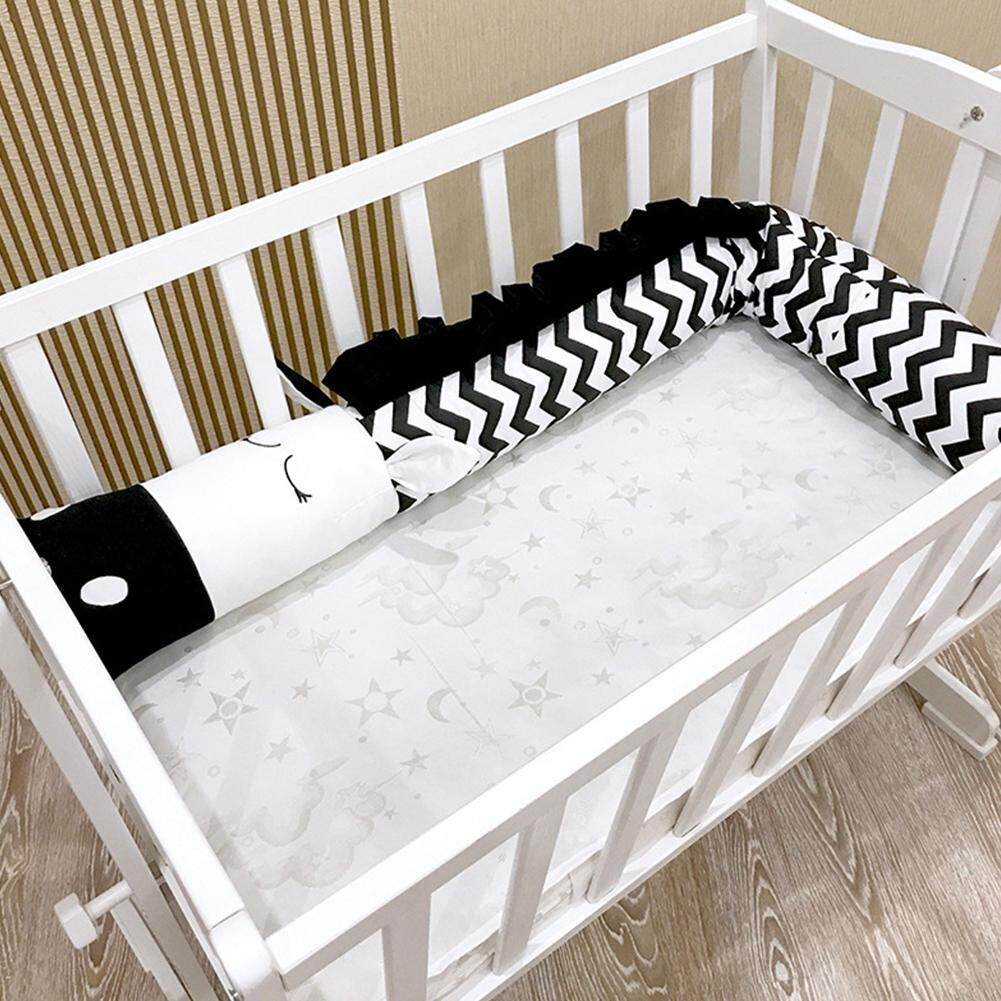 Airwrap Cot Bumper Baby Cartoon Black White Zebra Shape Safety Crib Bed Fence Kids Baby Room Decoration