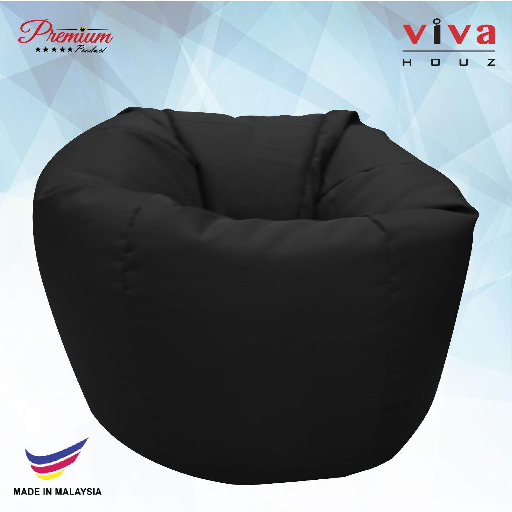 Sofa Bed Giant Malaysia Viva Houz Happy Bean Bag Sofa Pouffe Chair Xl Size Black Made In Malaysia