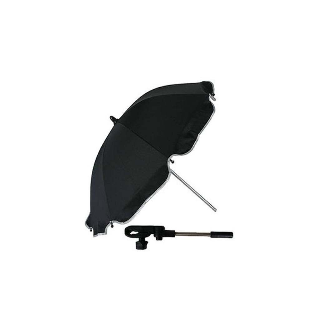 Baby Pram Umbrella Adjustable Baby Pram Sun Rain Umbrella Parasol Baby Pushchair Shade Canopy Strollers Umbrella Black Intl