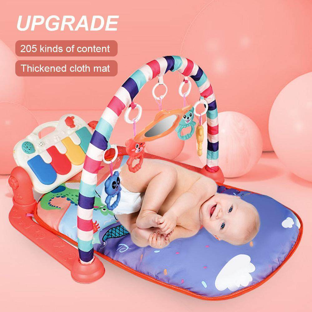 How To Play Newborn On Piano Onlook Baby Kick N Play Piano Gym Infants Newborn Mat With 3 Modes Kick Piano Mirror 4 Rattle Toys Kids 36 Month Baby Interactive Lights And