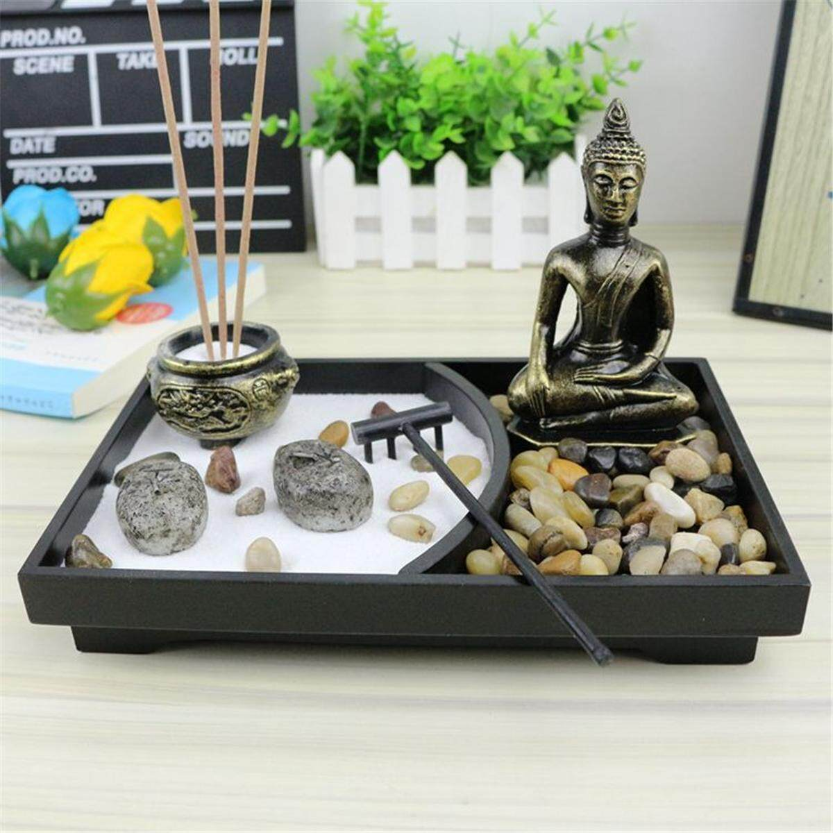 Table Top Zen Garden Other Home Décor Zen Garden Kit Tabletop Decor Meditation Sand