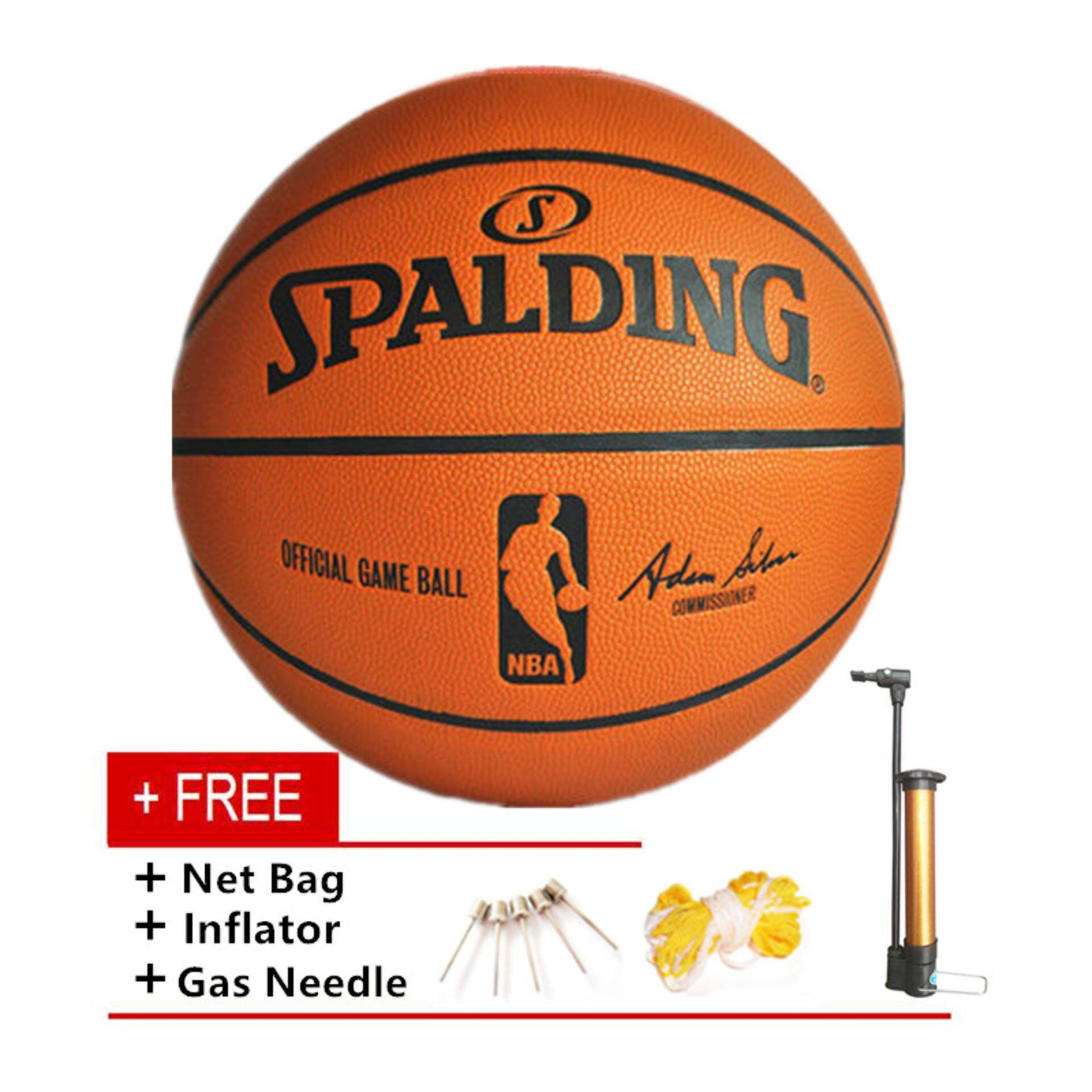 Basketball Ball Spalding Basketball Professional Size 7 Indoor Outdoor Pu Leather Training Match Basketball Intl
